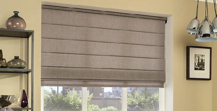 Made to measure roman blinds any size up to 7 feet wide for Roman shades for wide windows