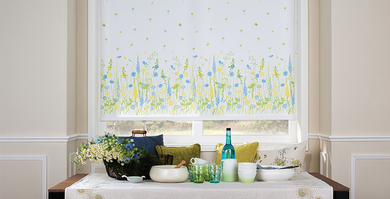 Boho Vibe Roller Blind. Side control or Spring-loaded.